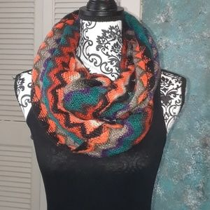Steve Madden multicolor infinity scarf.